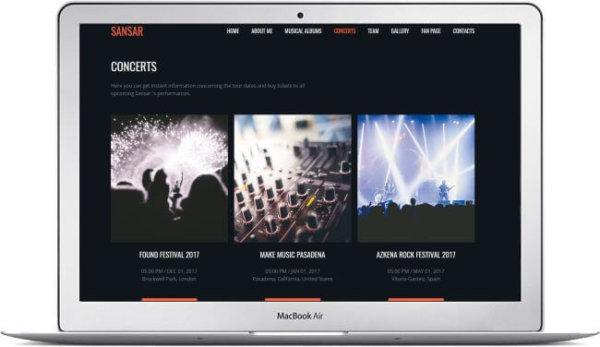 MotoCMS Musicans Website