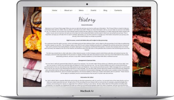 Webseite für italienisches Restaurant