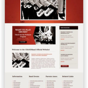 MotoCMS Grand Band Theme