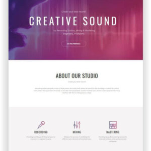 Website for Recording Studio