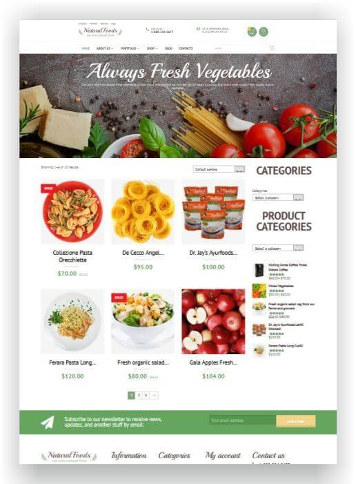 WooCommerce Food Onlineshop