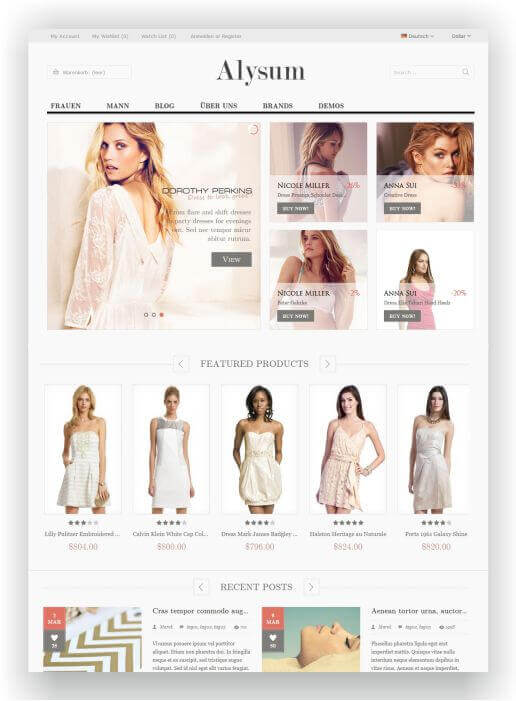 PrestaShop Multitheme Arundo