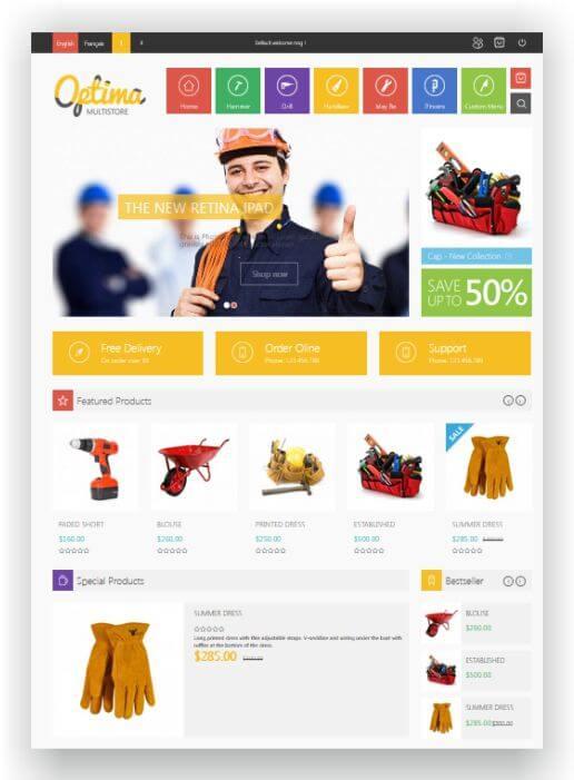 PrestaShop Multipurpose Theme Optima