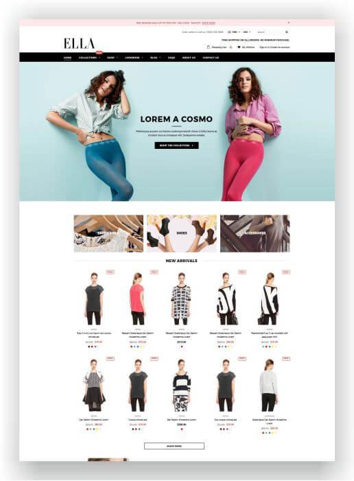 Shopify Fashion Theme
