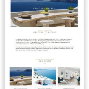 WordPress Hotel Theme Andros