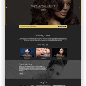 WordPress Theme for Beauty Salon