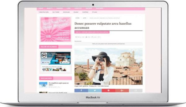 WordPress Feminine Theme