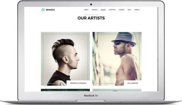 WordPress Portfolio Theme Brando