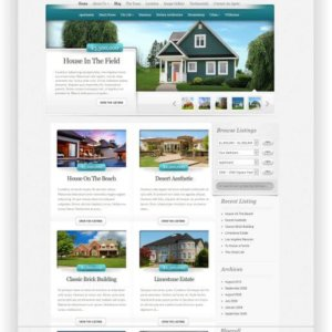Elegantes WordPress Immobilien Thema