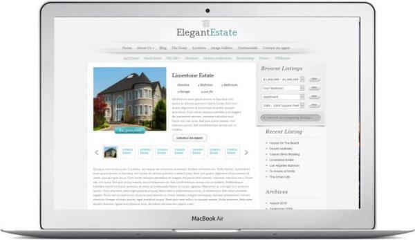 WordPress Real Estate Theme Elegant Estate