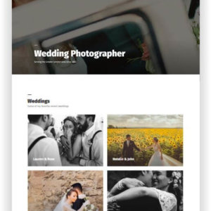 WordPress Wedding Photographer