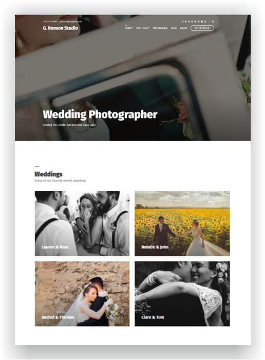 WordPress Wedding Photographer