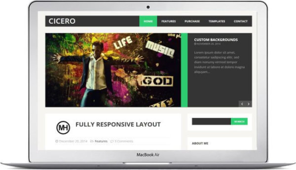 WordPress Blog Theme Cicero