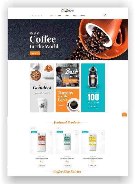 WooCommerce Coffee Theme