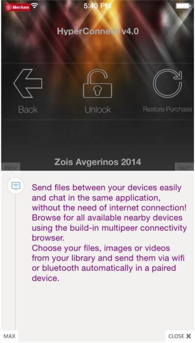 iOS Connect App