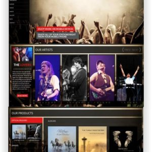 WordPress Music Template