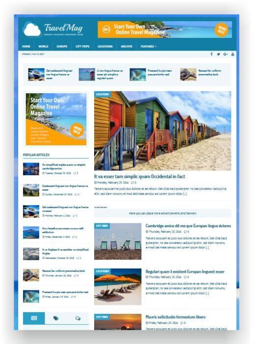 WordPress Travel Magazine