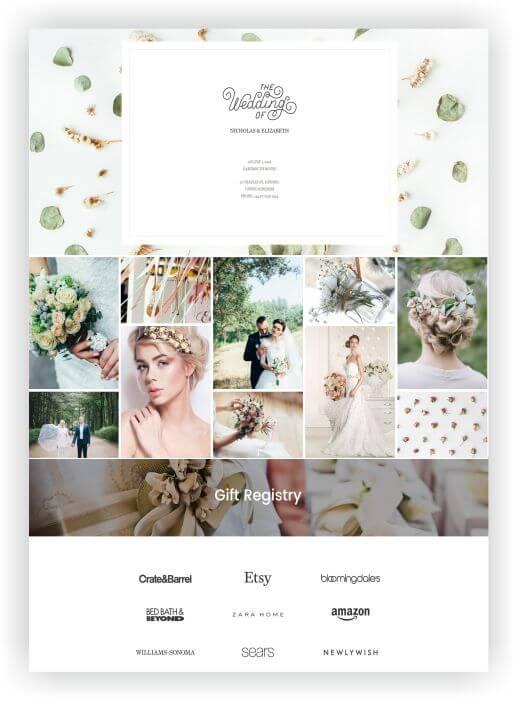 Hochzeits Webseite