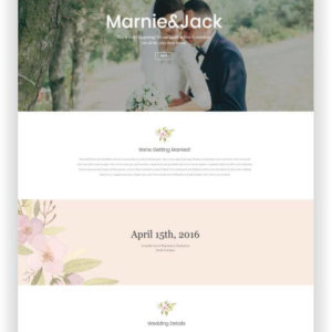 WordPress Wedding Website