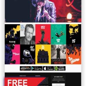 WordPress Free Music Theme