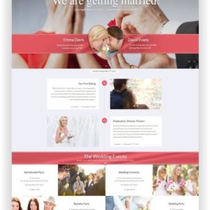 WordPress Wedding Template