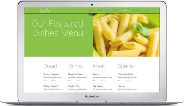 HTML5 Restaurant Theme Mamas Kitchen
