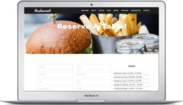 HTML5 Elegant Restaurant Theme