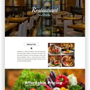 Restaurant Thema HTML