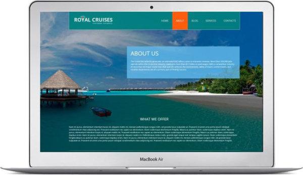 Vorlage für Kreuzfahrtwebseite