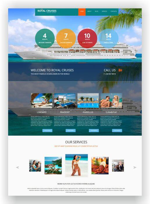 Joomla Cruise Website Royal Cruises Download The Template Here