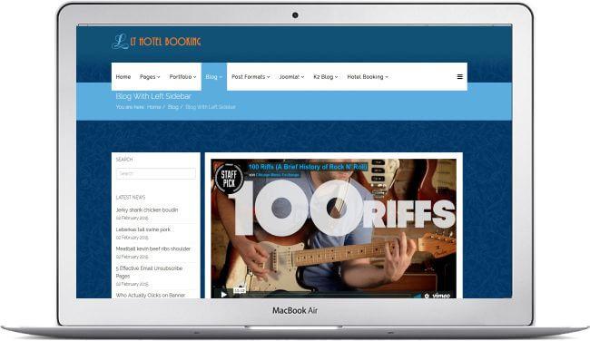 Joomla Hotel Booking Website - Download the template here!