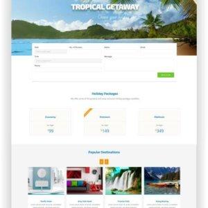 Reisebüro Webseiten Vorlage
