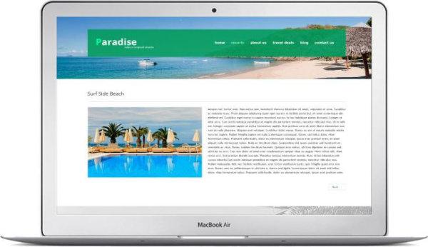 Reise Webseite