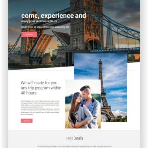 Joomla Template Travel Agency