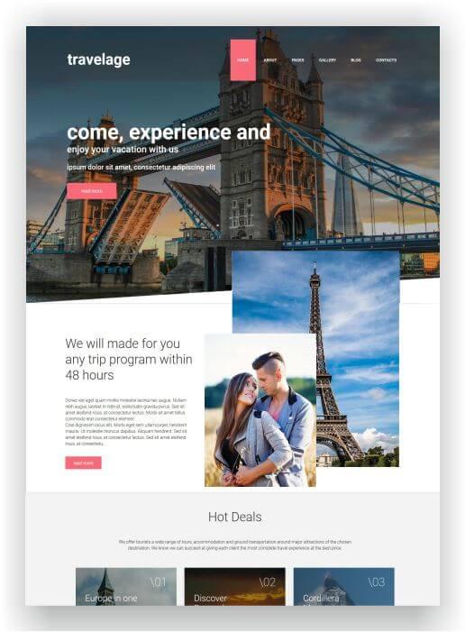 Reisebüro Webseite