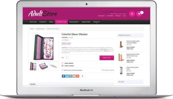 Magento Adult Shop Theme