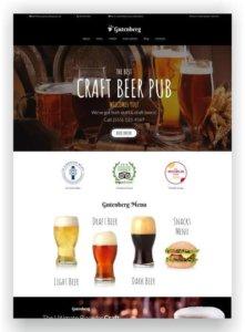 MotoCMS Beer Theme Gutenberg