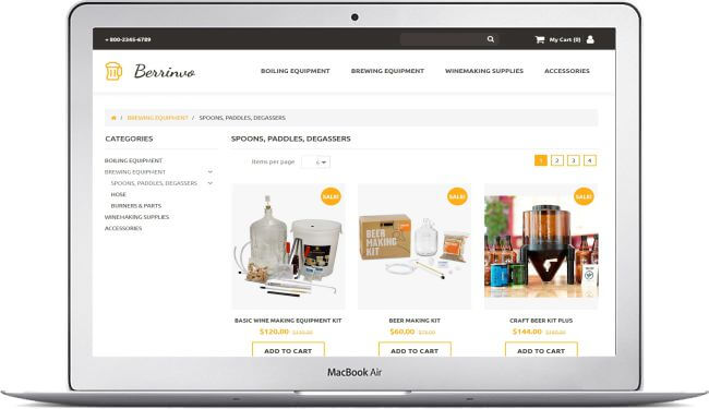 Beer online store theme create a online store with motocms for Craft beer online shop