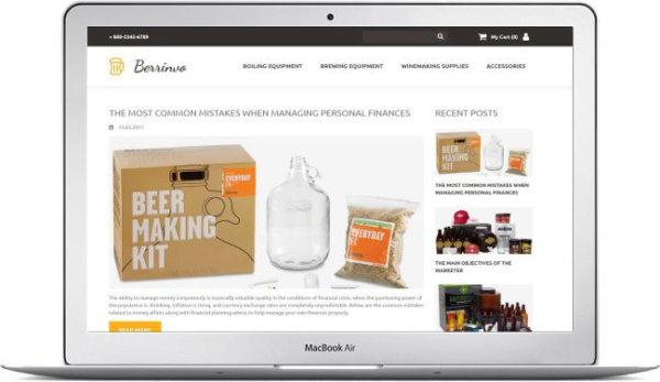 Beer Online Store Theme