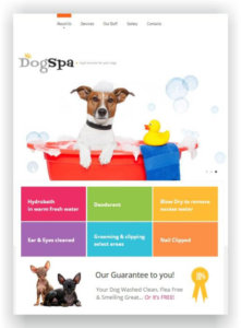 Dog Spa Website Template