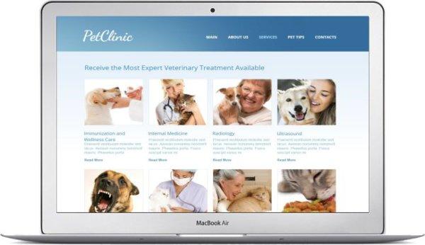 Tierklinik Webseite