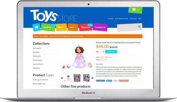 Shopify Toys Store Theme