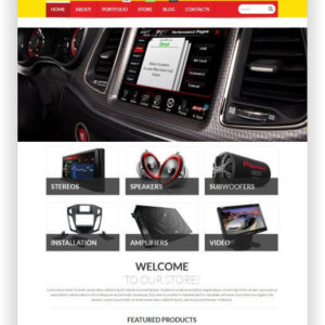 WooCommerce CarAudio Theme