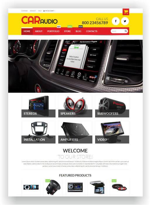 WooCommerce CarAudio Theme
