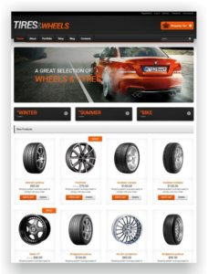 WooCommerce Tires and Wheels Shop Theme