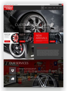 WooCommerce Tyres and Wheels Shop