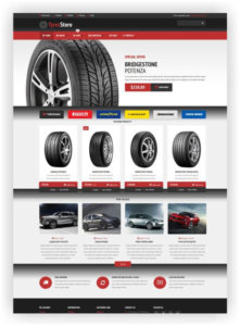 WooCommerce Tyres Store