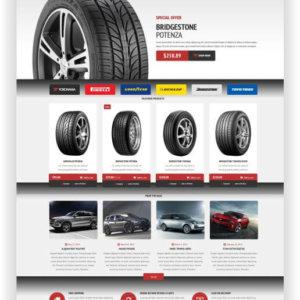 WooCommerce Tyres Store