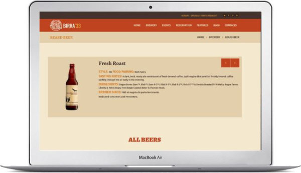 WordPress Beer Theme