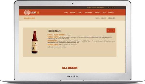 WordPress Beer Theme